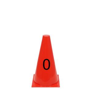 Rode pion met cijfer 0